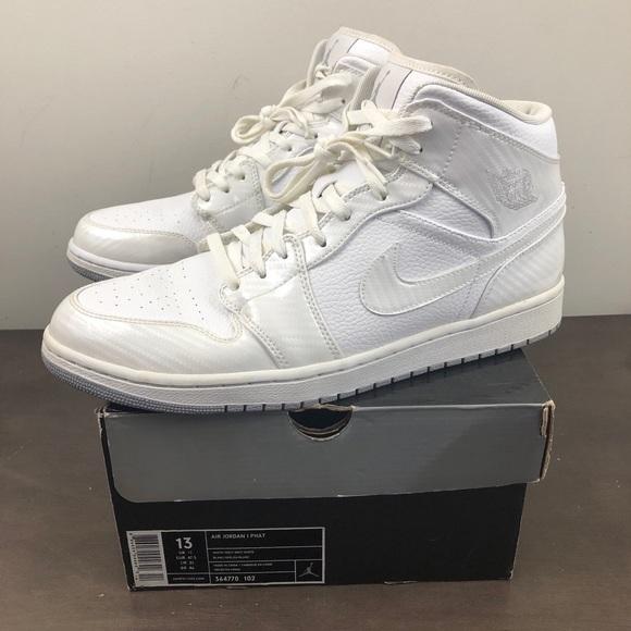 Jordan 1 White Air 364770 Nike Phat Sneakers 3c4AL5RjqS